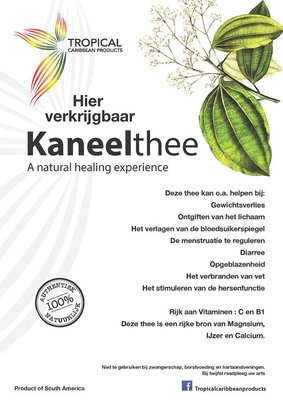 Tropical Caribbean Products Kaneelthee 50g
