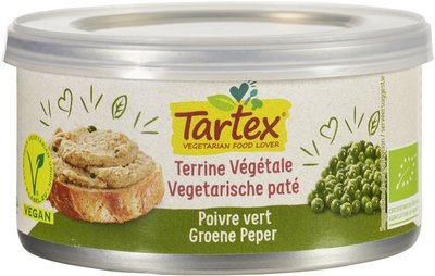 Tartex Vega paté green pepper 125g
