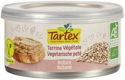 Tartex Vega paté naturel 125g
