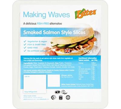 VBites Fish-Free Smoked Salmon Slices 100g *THT 13.03.2020*