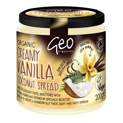Geo Organics Creamy Vanilla Coconut Spread 200g