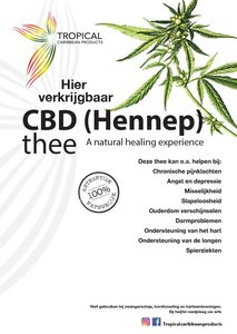 Tropical Caribbean Products CBD (Hennep) thee 20g