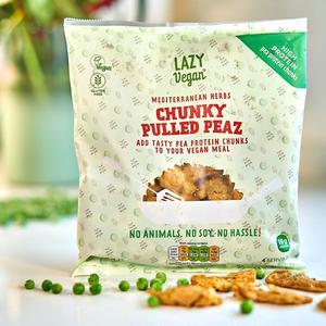 Lazy vegan Chunky Pullend Peaz. med. herbs 280