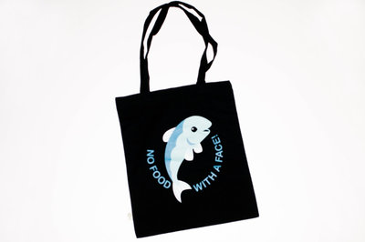 Animal Rights No Food With a Face - Cotton bag fish