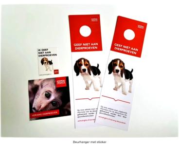 Animal Rights Deurhanger met sticker