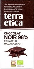 Terra Etica Pure chocolate 98% 100g