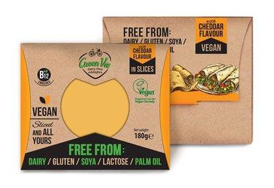 Green Vie Vegan Cheddar Flavour in Slices 180g