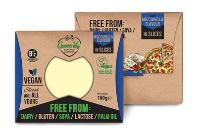 Green Vie Vegan Mozzarella Flavour in Slices 180g