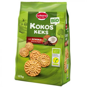 Wikana Kokos Keks (kokoskoekjes met chocolade) 125g
