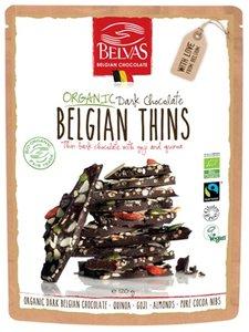 Belvas Belgian thins puur quinoa-goji 120g