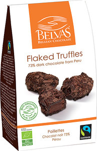 Belvas Flaked Truffles 72% Cacao 100g