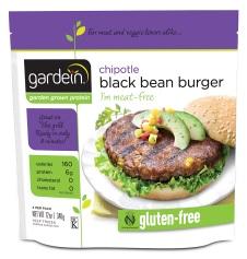 Gardein Gluten free Black Bean Burger 340g