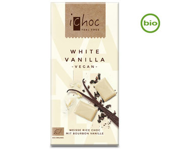 Vivani ichoc Organic Chocolate White Vanilla 80g