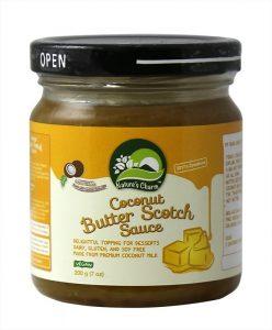 Nature's Charm Coconut Butter Scotch sauce 200g *THT 02.03.2020*