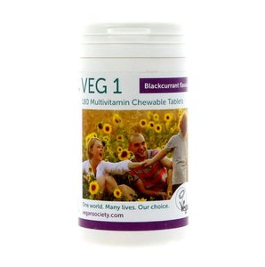 The Vegan Society VEG 1 multivitamin Blackcurrant 180 tablets