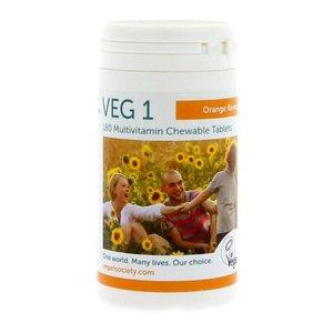 The Vegan Society VEG 1 Multivitamin ORANGE Kauwtabletten 180 stuks