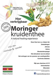 Tropical Caribbean Products Bio Moringer Kruidenthee 30g
