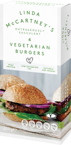 Linda McCartney Vegetarian burgers 200g