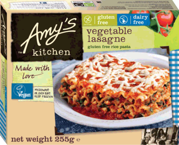 Amys Kitchen Gluten-free Vegan Veg Lasagne 225g