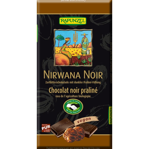 Rapunzel Nirwana noir dark chocolate with praliné filling organic 100g