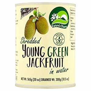 Nature's Charm young groen jackfruit (shredded) in water 565g