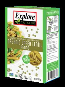 Explore Cuisine Green Lentil Penne 250g